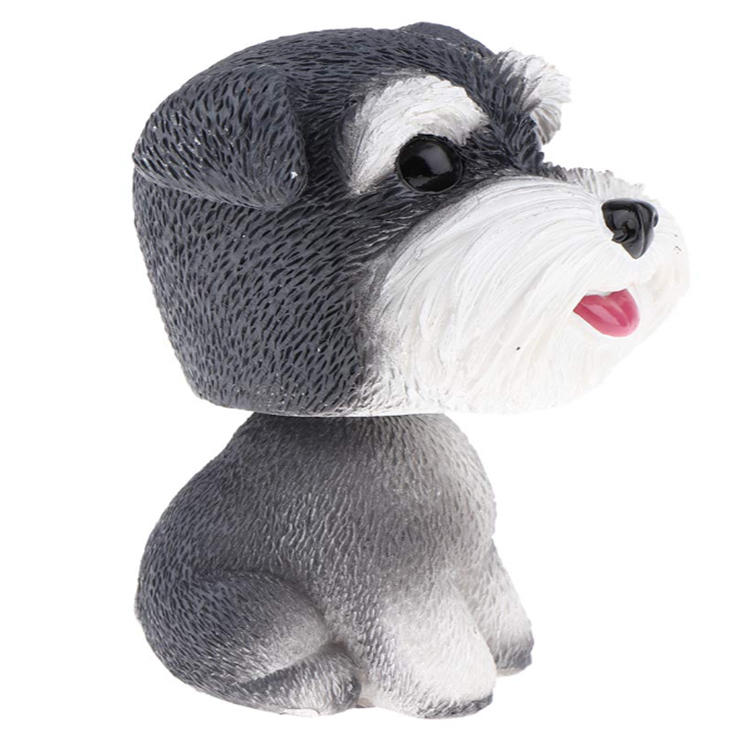 Dog miniature dog toy bobble head dog resin material