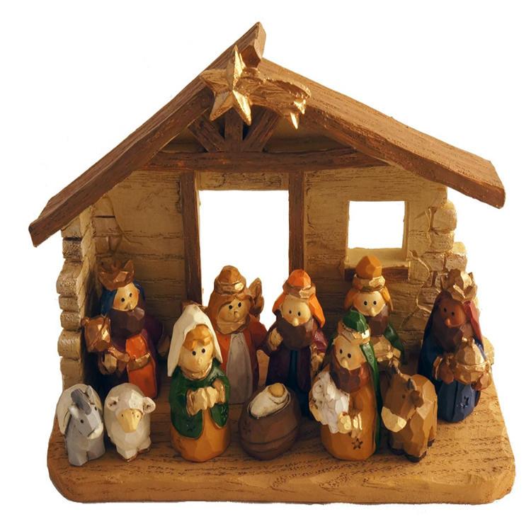 Mini miniature nativity set Christmas statue home