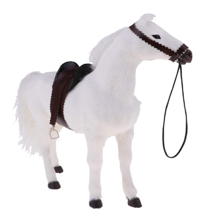 White miniature mini horse resin table decoration craft