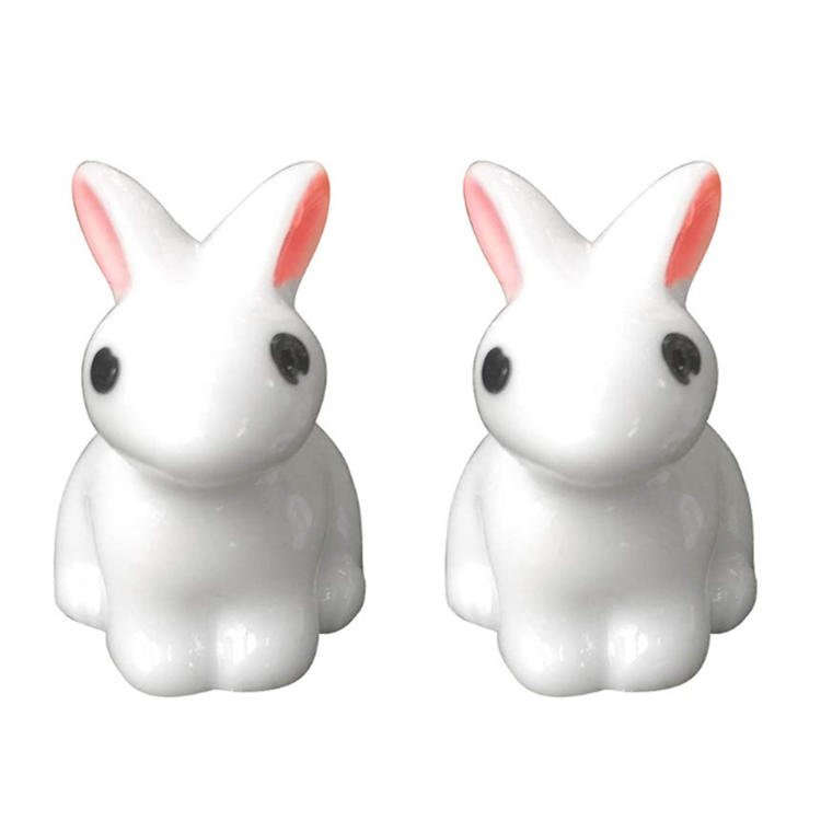 Mini resin rabbit miniature rabbit statues polyresin craft