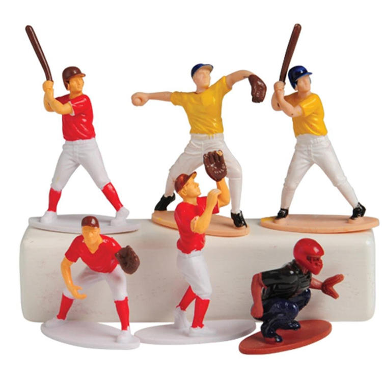 Resin miniature sports plastic mini human figures