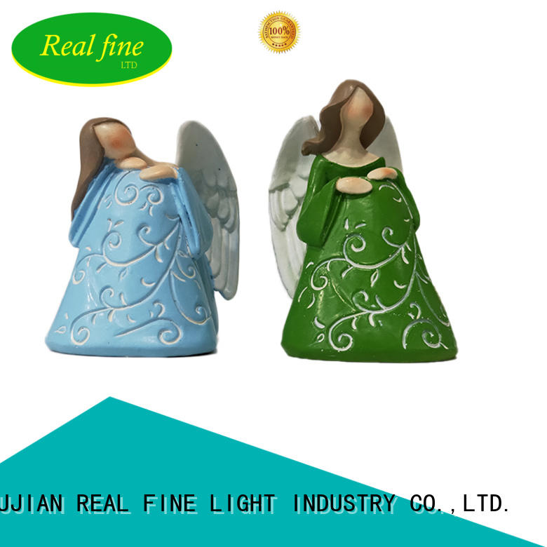 Real Fine environmental small resin angels for decoration for church