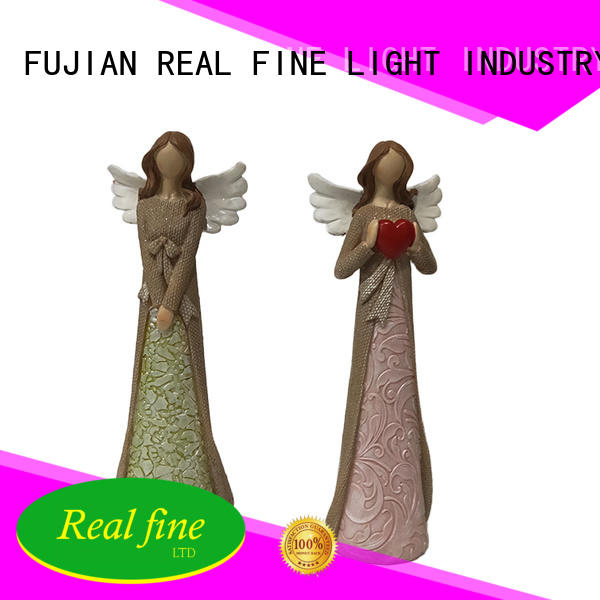 resin guardian angel figurines sleep for garden Real Fine