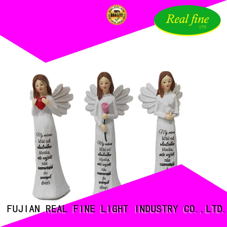 white christmas angel figurines for decoration for home Real Fine