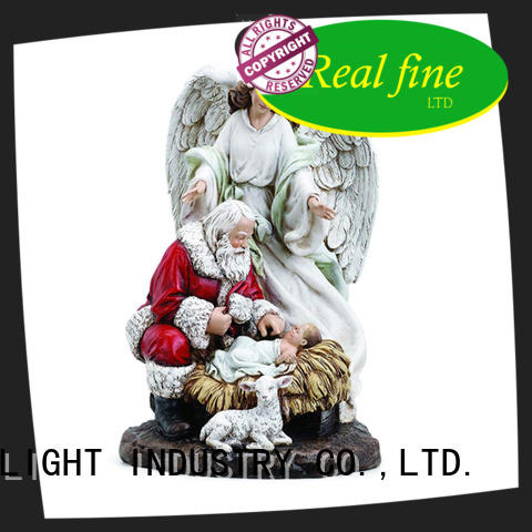 Santa Clause resin wing Angel Baby Jesus christams decor figurine