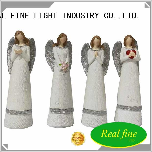 Real Fine hand guardian angel figurines high quality for church