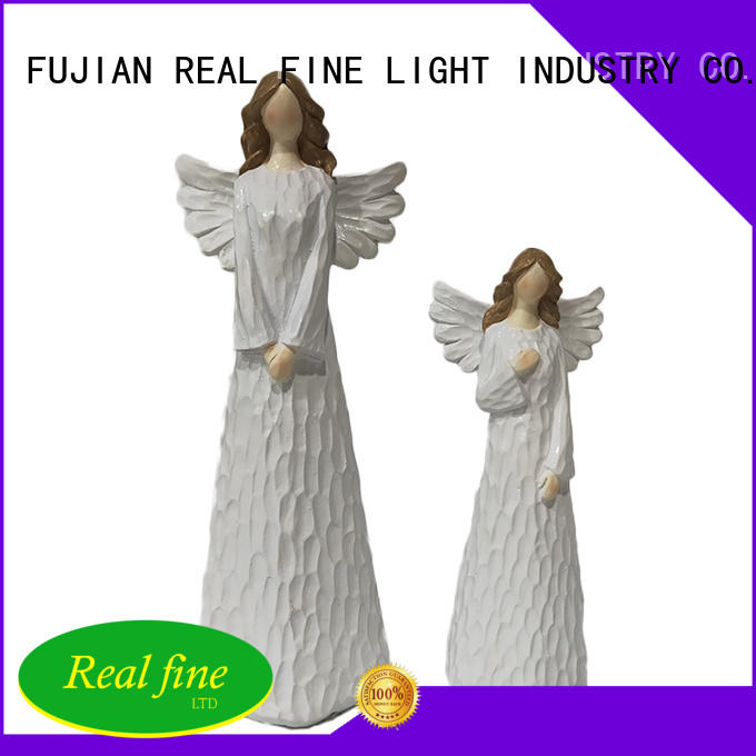 environmental resin angel figurines high quality for home