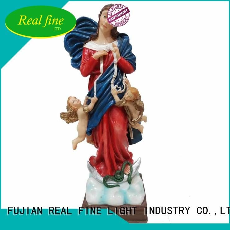 mary resin craft sacred for garden Real Fine