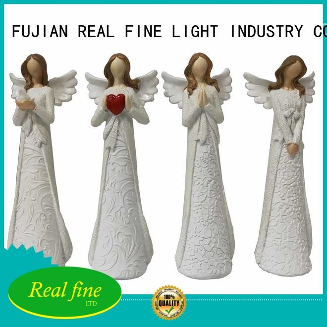 Real Fine wing christmas angel figurines for decoration for church