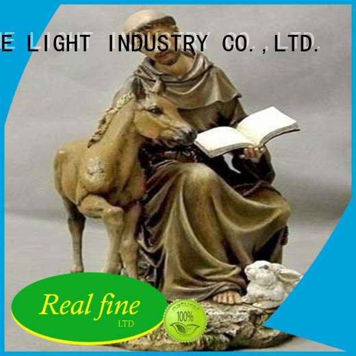 Resin seated St Francis statue  garden decor figurine