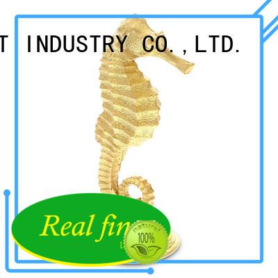 Polyresin decorative seahorse statue handcraft standing figurine
