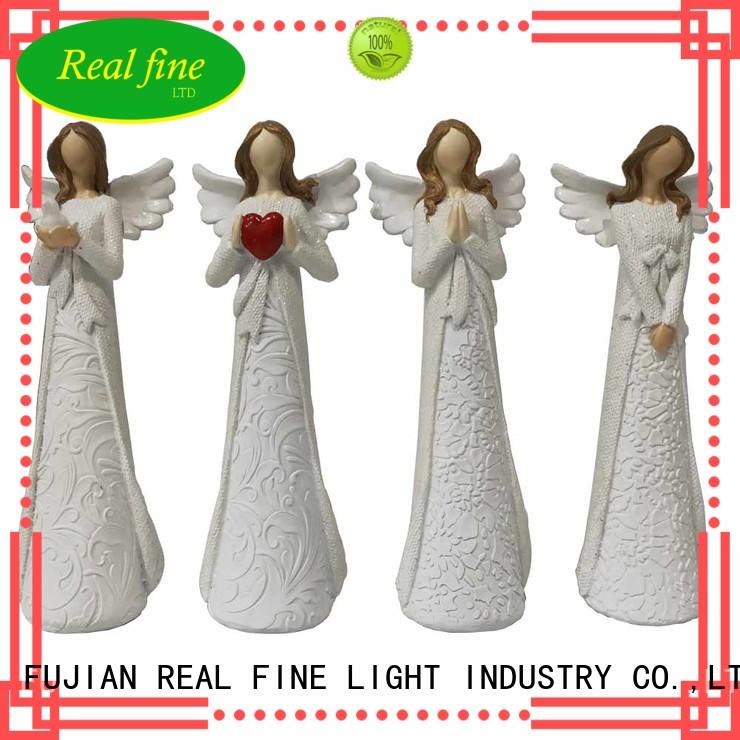 gift resin angel figurines high quality for church Real Fine
