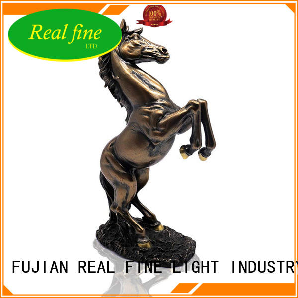 Horse statue bronze color standing resin resin statue animal horse figurine