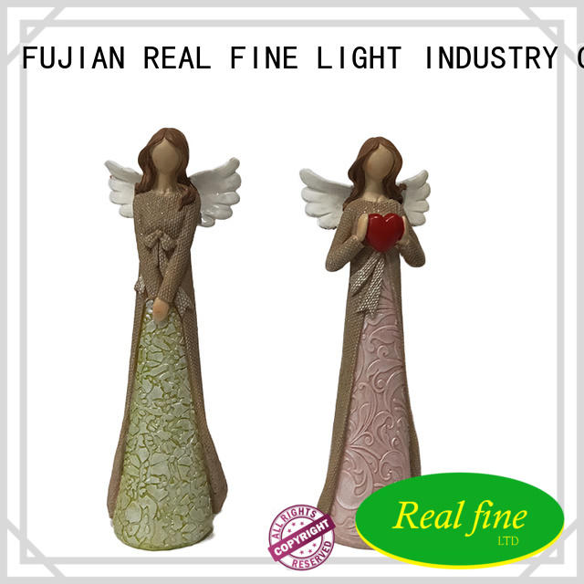 Real Fine standard christmas angel figurines for gifts for office