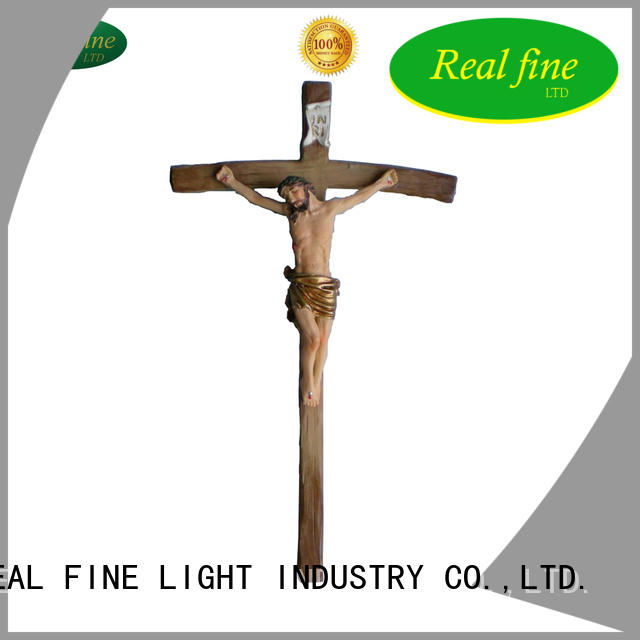 Real Fine crucifix resin figurines for decoration for gifts