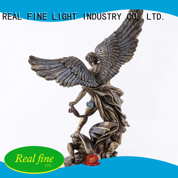 St michael statue figurine decor resin angel miguel