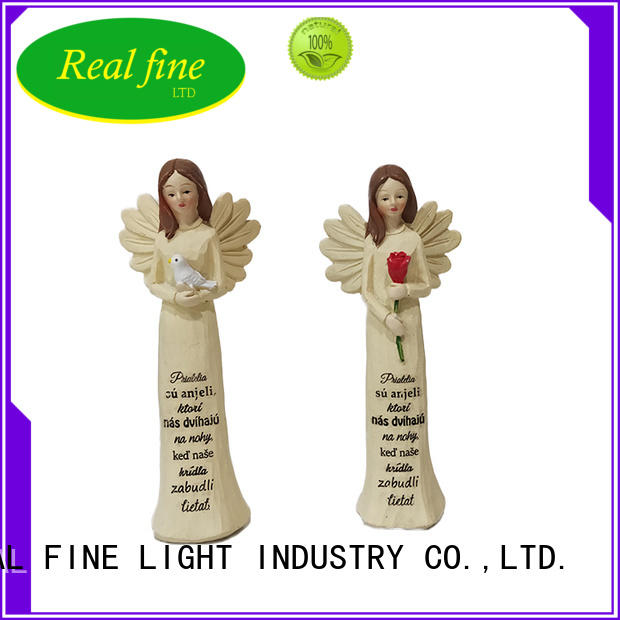 Real Fine brown angel figurine collection for gifts for church