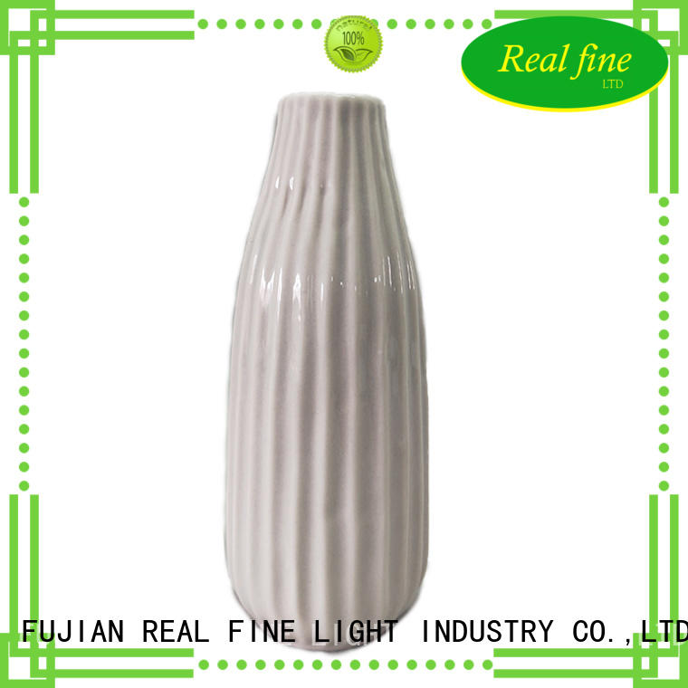 Real Fine white ceramic crafts at home high quality for garden