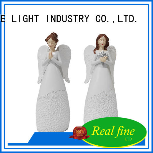 Real Fine beautiful guardian angel figurines high quality for church