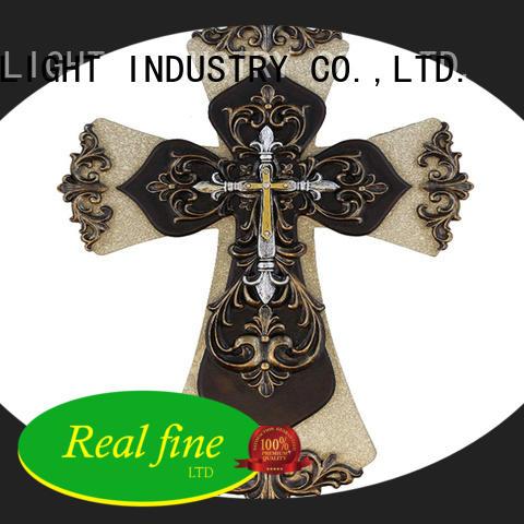 Cross christian statue resin cross figurine home decor