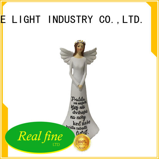 small angel figurines resin for garden Real Fine