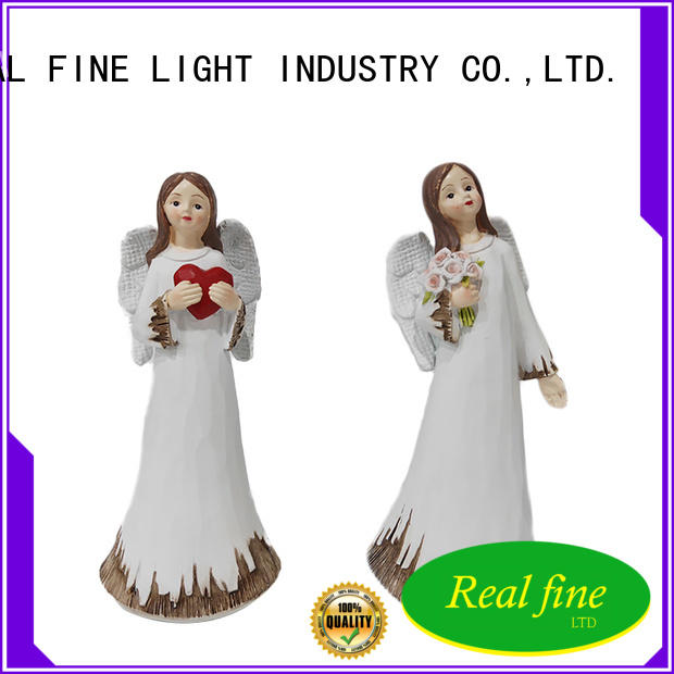Real Fine christmas angel figurines supply for office