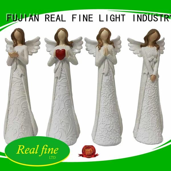 Real Fine environmental popular angel figurines figurines for garden