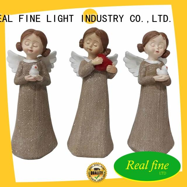 christmas angel figurines white for garden Real Fine