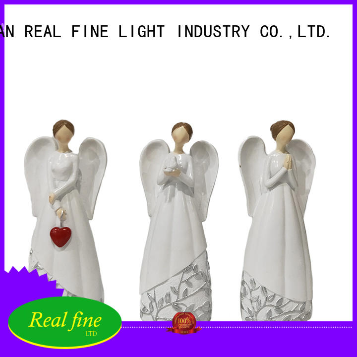 Real Fine angel figurines high quality for office