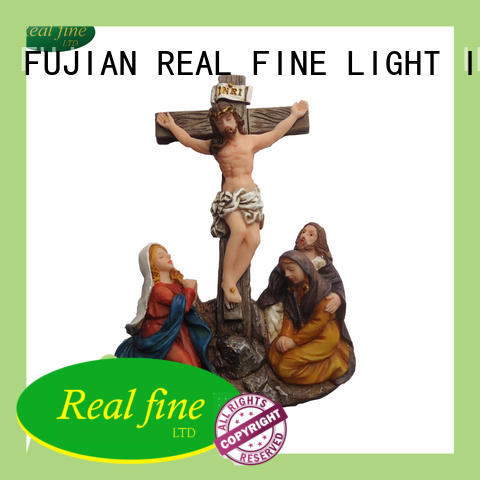 crucifix resin figurines christian for garden Real Fine